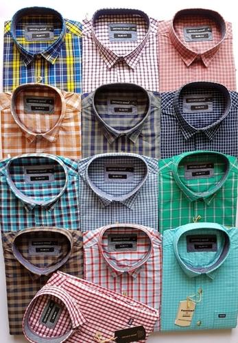 60d8256fb Mens Formal Check Shirts in Gokak, Karnataka - THE YUVATHIS