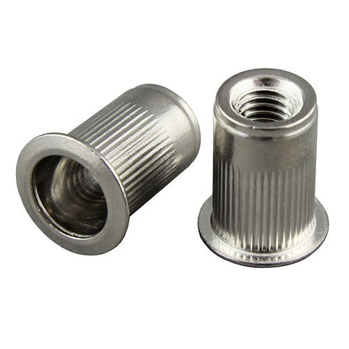Flat Head Rivet Nuts Knurled