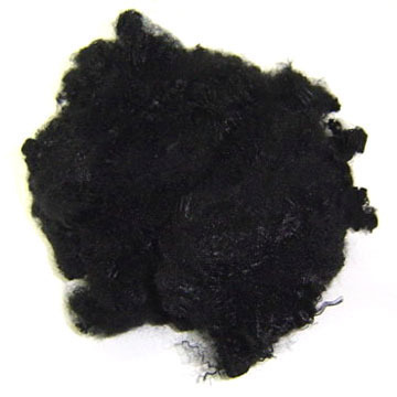 Recycled Black Polyester Staple Fibre