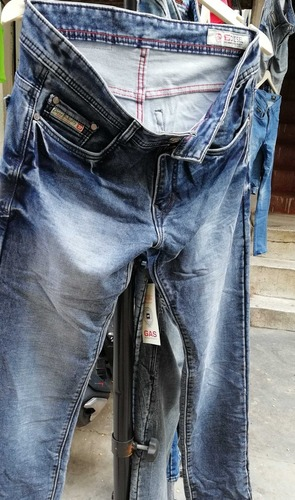 Monkey Washed Mens Jeans