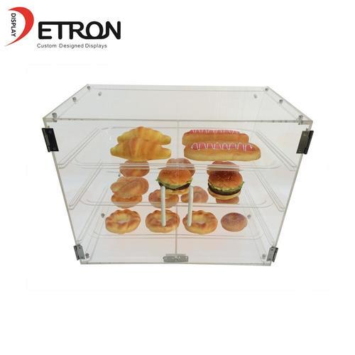 ODM Three Tiers Countertop Clear Acrylic Bread Display Case