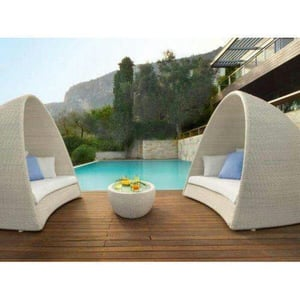 Rattan And Wicker White Outdoor Pool Furniture