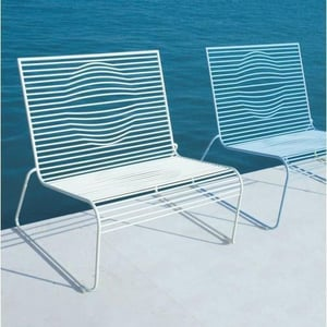 White Outdoor Lounge Chair