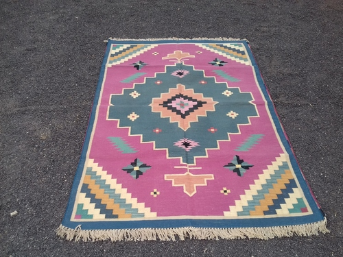 Washable Cotton Durries Rugs At Price