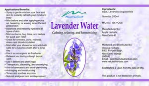 Fine Quality Lavender Water