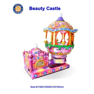Indoor Coin Operated Kiddie Rides Swing Kids Rides Beauty Castle