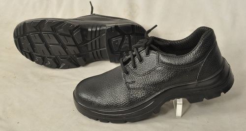 Black Full Grain Leather Safety Shoe