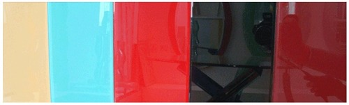 Multi Color Lacquered Glass