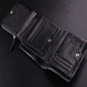 Trifold Mens Leather Wallet