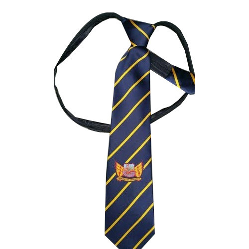 Logo Embroidered School Tie