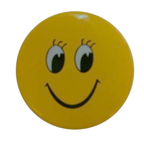 Yellow Smiley Badge