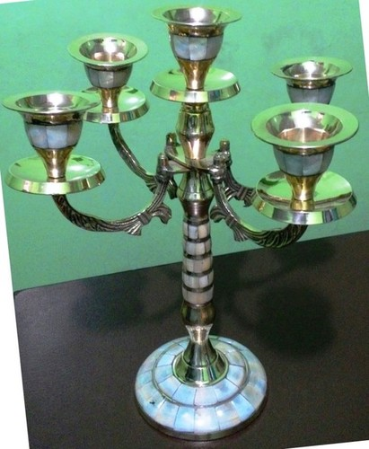 Brass Metal Candle Stand