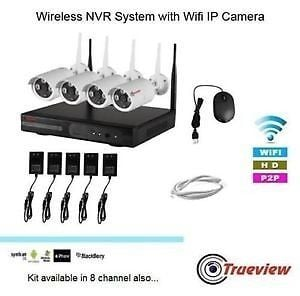Wireless NVR System With Wifi IP Cameras