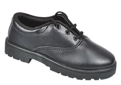 Durable Black School Shoes
