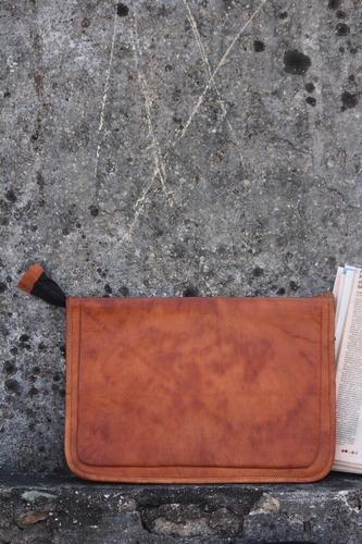 Spacious Leather Laptop Sleeve