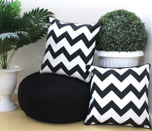 Digital Printed Floor Zig Zag Cushion Combo Set