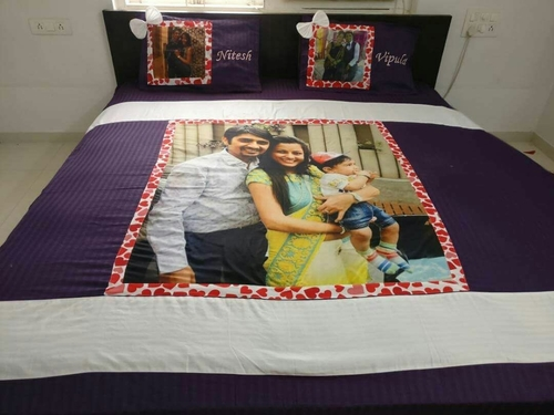 Personalized Printed Velvet Bedsheets In 50 Sector