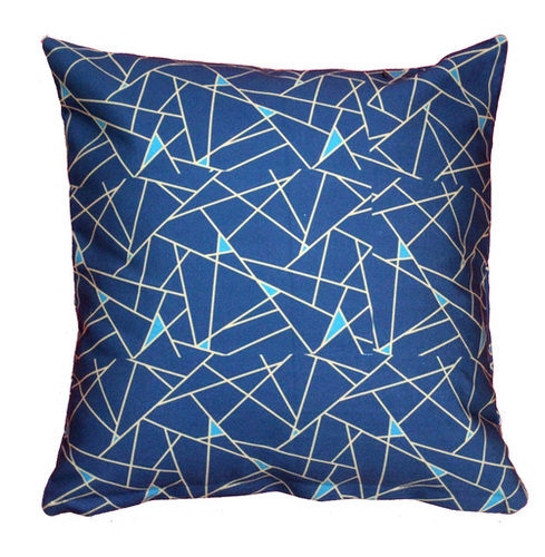 Digital Printed Geometrical Triangle Design Cushion Cover