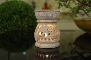 Aroma Diffuser with Elephant Design - Soapstone