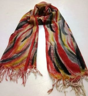 Fancy Hand Painted Scarf