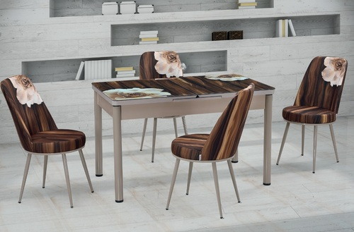 Modern Extandable Folding 1 Table and 6 Chair
