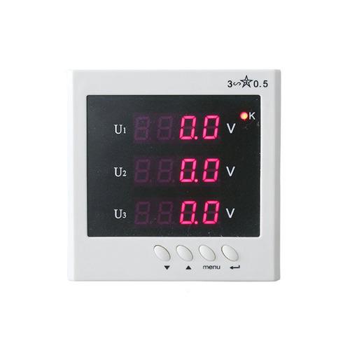 BJ-192U Three Phase Voltage Metering 400V / 100V Volt LED Display Panel Meter