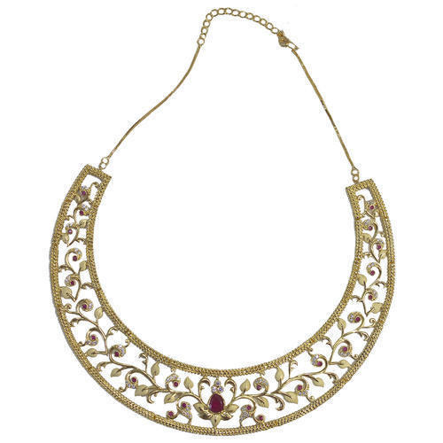 Circular Design Golden Necklace