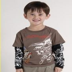 Brown Trendy Kids T Shirts