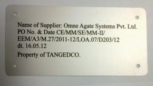 High Quality Aluminium Label