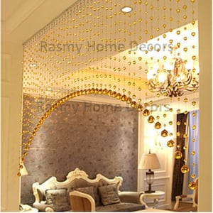 Arch Shape Golden Crystal String For Partition Spaces For 12FT Area