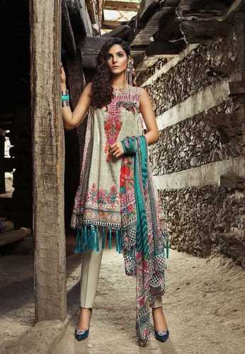 b6886884a1 Pure Chiffon Designer Lawn Embroidered Suit With Printed Dupatta
