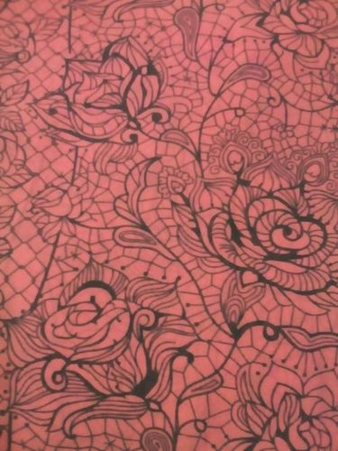 Rose Webbed Printed Polyester Fabric