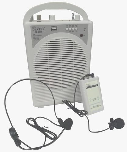 Saatvik Portable Wireless Amplifier with Collar Mic DEXTER CD-215A