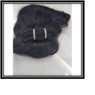 Black Machine Weft Hair