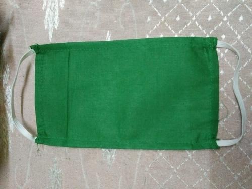 Cotton Green Face Mask - ANAND CORPORATION, 30, Sahajananad