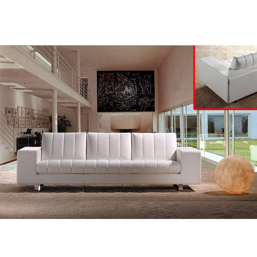 Miraculous Three Seater White Sofa Taneja Furniture Carbon Works A Machost Co Dining Chair Design Ideas Machostcouk