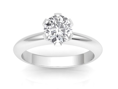 7a5e7a885c3 18K White Gold - Classic Six-Prong  Six-Claw Engagement Ring