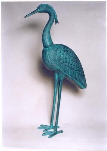 Good Quality Aluminium Crane Sculpture