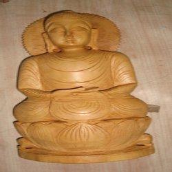 Fine Sheen Wooden Buddha Statue