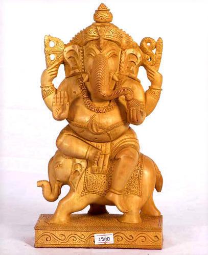 Fine Sheen Wooden Ganesha