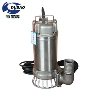 Industrial Chemical High Flow Rate Stainless Steel Centrifugal Submersible Sewage Pump