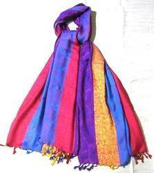 Multicolor Silk Pashmina Stoles