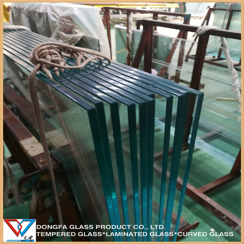 Flat Or Curved 12Mm Clear Toughened Tempered Heat Soaked Glass