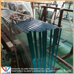 12mm Clear Toughened Tempered Heat Soaked Glass