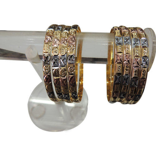 Fashionable Three Tone Bangles