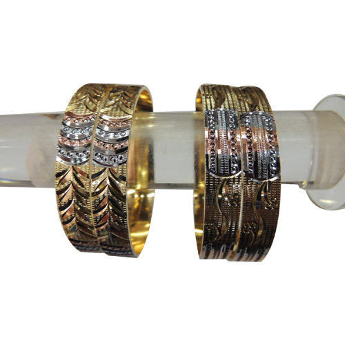 Gold Three Tone Bangles