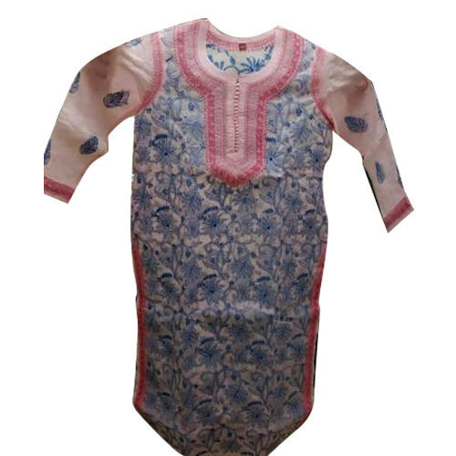 Ladies Chikan Cotton Kurti