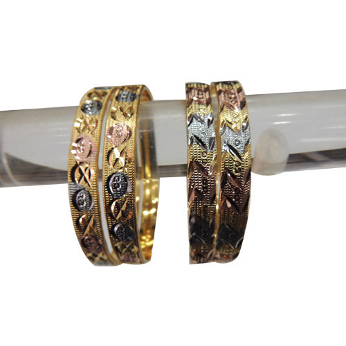 Trendy Three Tone Bangles