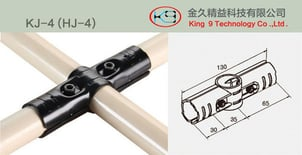 180 Degree Celcious Cross Metal Joint for Pipe Rack System