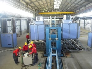 High Frequency Welded H-Beam Production Line